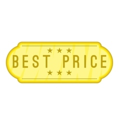 Best price label icon cartoon style vector image