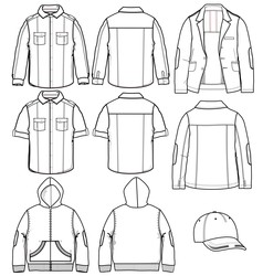Clothin for man vector image