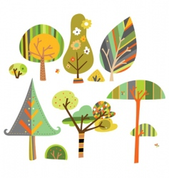 cute trees vector image vector image