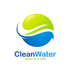 eco clean water abstract logo vector image