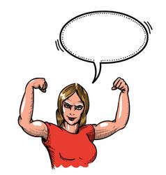 gym woman-100 vector image vector image