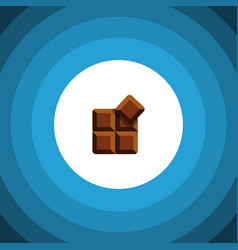 isolated delicious flat icon cocoa element vector image vector image