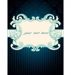 vintage rococo label vector image