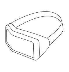 virtual reality headset icon in outline style vector image vector image