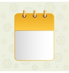 White sheet of calendar vector image vector image