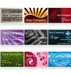 Business cards set II vector image