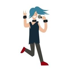 Cartoon Girl Singer vector image