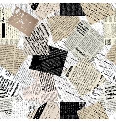 Collage of patches newspaper vector image vector image
