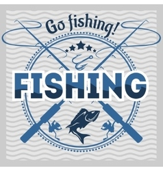 Fishing emblem badge and design elements vector image