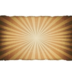 Rip White Paper With Sunburst Old Background vector image