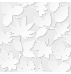 Seamless background with paper leaves vector image vector image