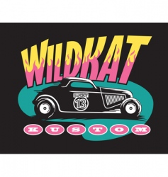 wildcat custom vector image vector image