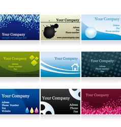 Business cards set IV vector image vector image