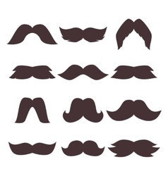 Face accessory party set fun mustache hipster vector image vector image