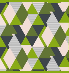 fresh green triangle geometric pattern vector image vector image