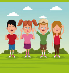 kids at park vector image