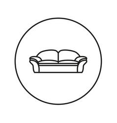 soft sofa icon vector image vector image