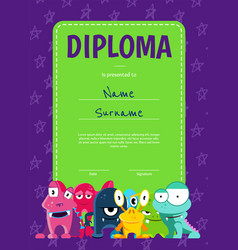 vertical children diploma or certificate vector image