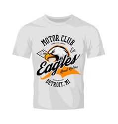 vintage american furious eagle custom bike motor vector image