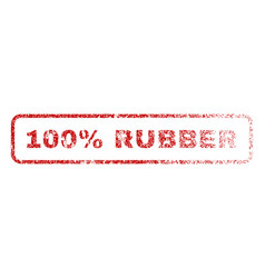 100 percent rubber rubber stamp vector