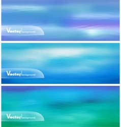 Abstract Blue Water Banner vector