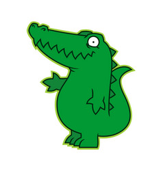 Affable alligator or croc cartoon character mascot vector