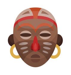 african tribal maskafrican safari single icon in vector image
