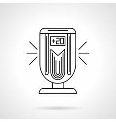 Air temperature control flat line icon vector image