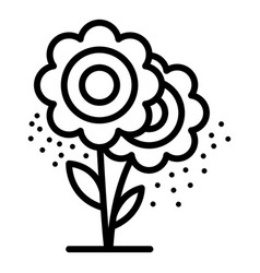 Allergy flower icon outline style vector