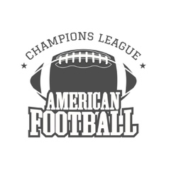 American football champions league badge logo vector image
