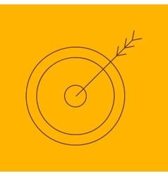 Arrow target line icon vector image