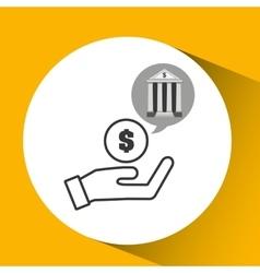 Bank concept safe hand money icon vector