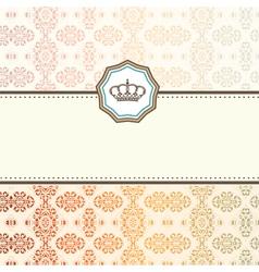 baroque card vector image vector image