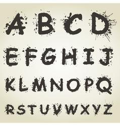 Blot Alphabet Fonts vector image