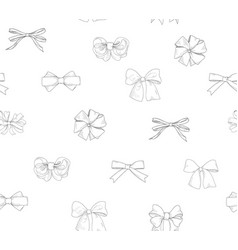 Bow tiled pattern bride team bow icon set holiday vector