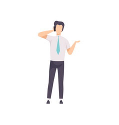 businessman talking on the phone successful vector image