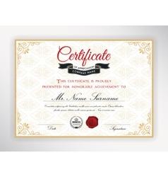 certificate achievement template design vector image