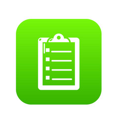 check list icon green vector image