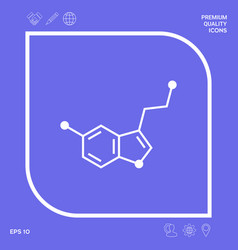 Chemical formula icon serotonin graphic elements vector