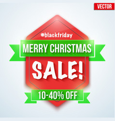Christmas sale badge and label vector