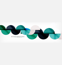 circle modern geometrical abstract background vector image