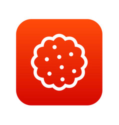 Cookies icon digital red vector