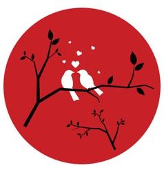 Couple love birds vector