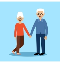 Couple old men and women vector