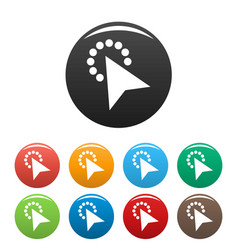 cursor modern click icons set color vector image