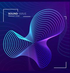 dynamic radial color sound equalizer design music vector image