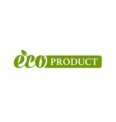 Eco product logo with leaf vector