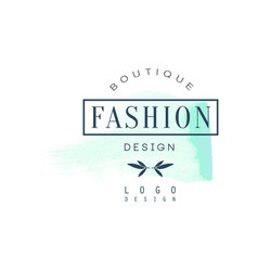 fashion boutique logo design badge for clothes vector image