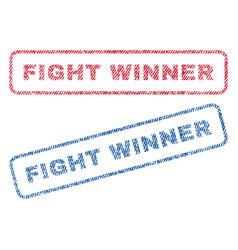 Fight winner textile stamps vector