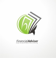 Financial adviser logo design vector image vector image